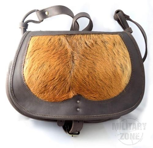 Skórzana torba myśliwska sierść sarny M1DS 22